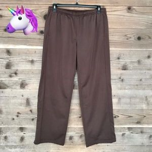 Sport Tech Fleece Lined Zipper Hem Pants Sz XL